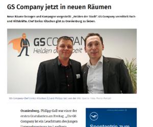 Büroeröffnung GS Company Oranienburg